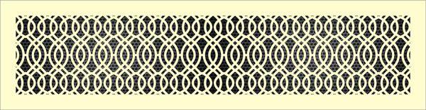 Декоративная решетка Синус