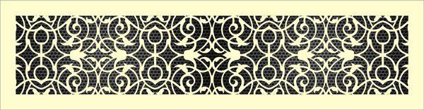 Декоративная решетка Арабеска
