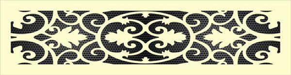 Декоративная решетка Листья дуба