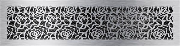 нержавеющая решетка роза