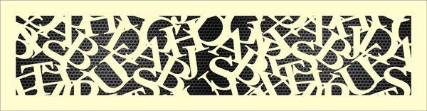 Декоративная решетка Шрифт