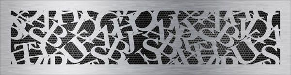 нержавеющая решетка шрифт