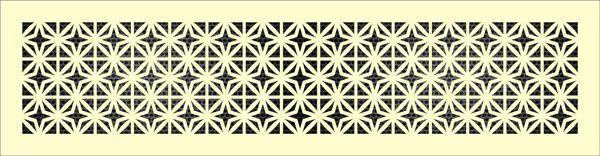 Декоративная решетка Сюрикены