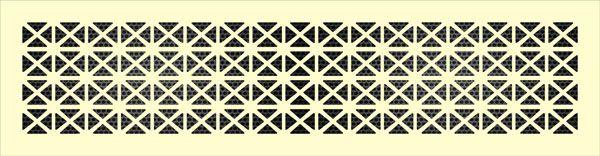 Декоративная решетка Треугольник