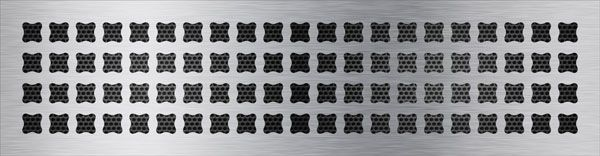 нержавеющая решетка Вогнутые квадраты